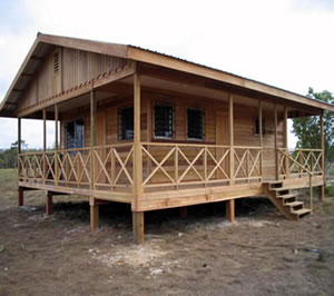 home construction in Belize Central America