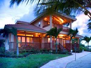 luxury home construction in Central American country of Belize